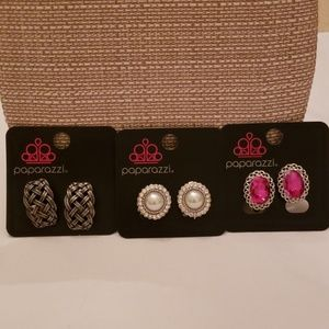 Paparazzi  CLIP ON. Earrings  3 pair.